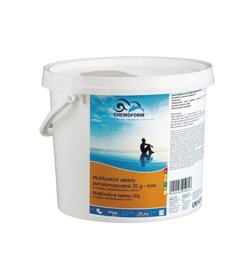 Tablety Chemoform 8601, 20 g, multifunkčné, pomalorozpustné, bal. 1 kg