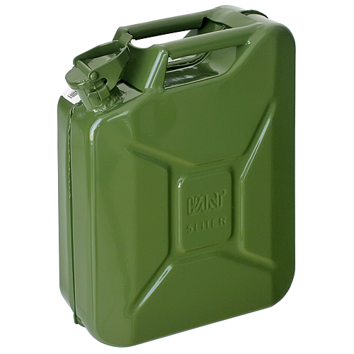 Kanister Jerican 05 lit, kovový, na PHM, GS/TUV, zelený, RAL6003