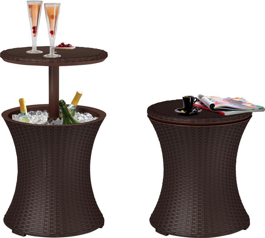 Bar Keter® COOL BAR RATTAN, hnedý, 49x49x57/82 cm