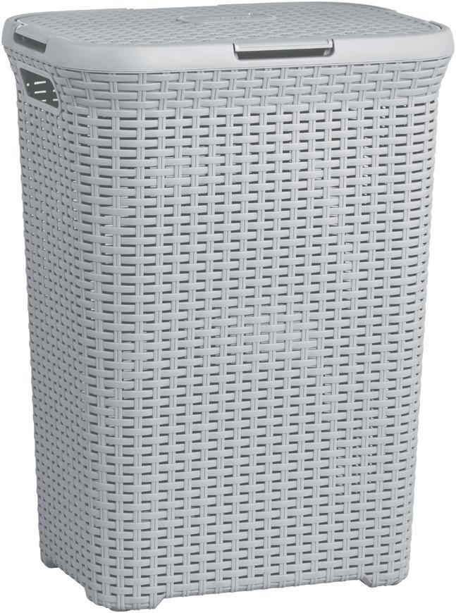 Kôš Curver® NATURAL STYLE 60L, sivý, 44x61x34 cm, na bielizeň, prádlo