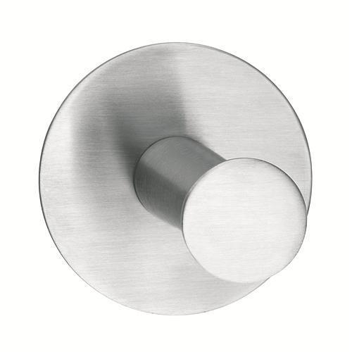 Háčik tesa® Powerbutton, okrúhly, Stainless steel, max. 6 kg