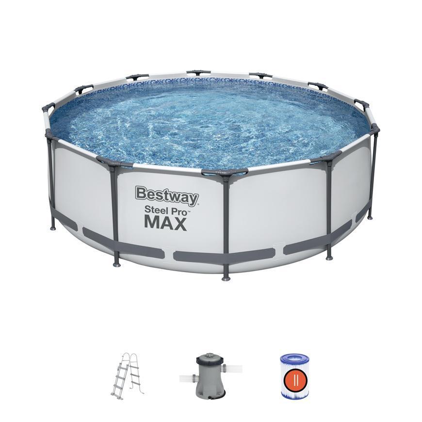 Bazen Bestway® Steel Pro MAX, 56418, 366x100 cm, filter, rebrík