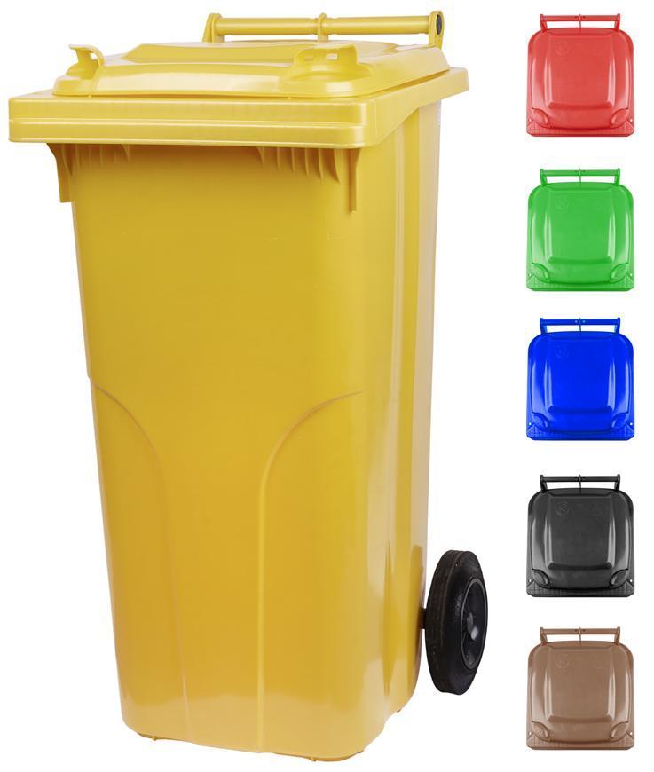 Nadoba MGB 120 lit, plast, hnedá 8014, HDPE, popolnica na odpad