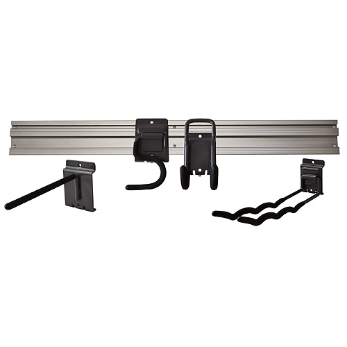Držiak na náradie G-mate GHS5 • koľajnička 80 cm, 5 ks, + vešiaky, na stenu