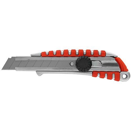 Nôž Strend Pro 18 mm, odlamovací, s kolieskom, Alu/plast