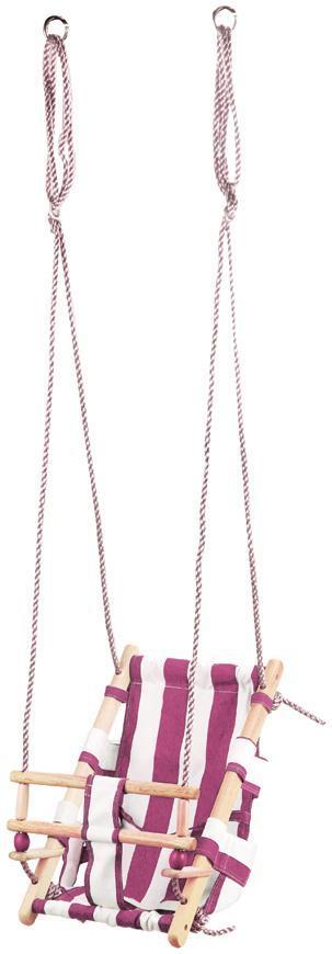 Hojdacka LEQ FUMIKO, 36x24x45 cm, detská, tkanina/drevo, ružová