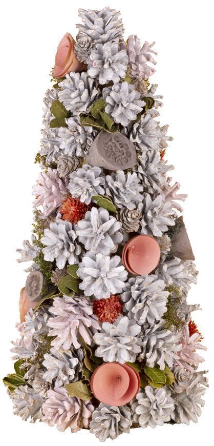 Stromček prírodný MagicHome, ružový, 40 cm,