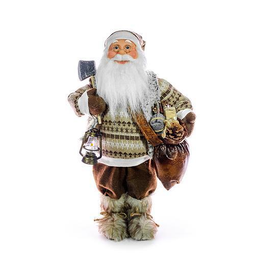 Dekorácia MagicHome Vianoce, Santa so sekerou, 046 cm