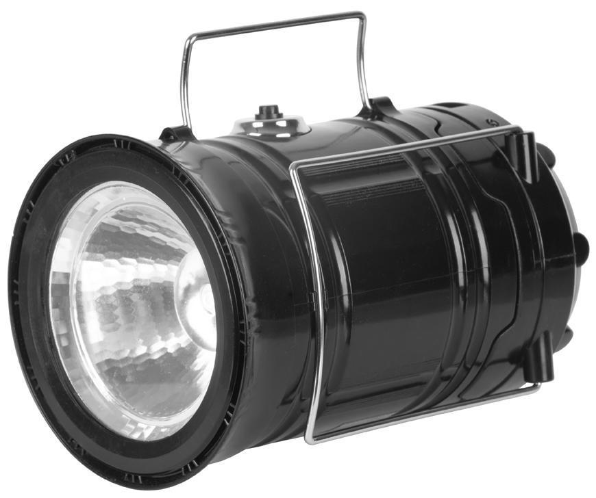 Lampa Strend Pro Camping CL102, LED, 80 lm, 1200mAh, efekt plameňa, USB výstup, svietidlo, nabíjanie