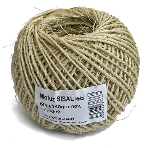 Motuz Sisal Natural, 060 m/140 g, BallPack