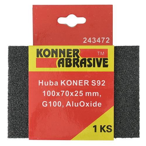 Huba KONNER S92 100x70x25 mm, G060, AluOxide, brúsna špongia
