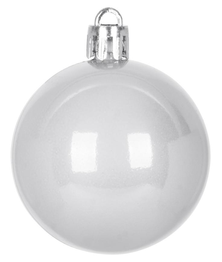 Gule MagicHome Vianoce,10 ks, biele, na vianočný stromček, 5 cm