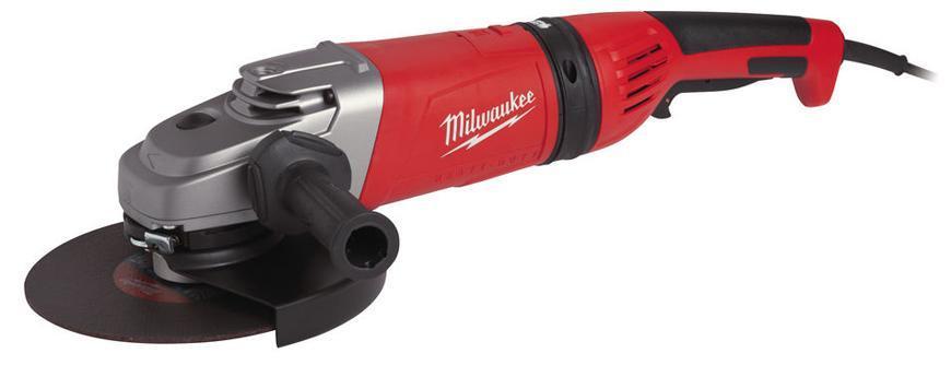 Bruska Milwaukee® AGV 26-230 GE, 230 mm, 2600W, Protector-motor, uhlová