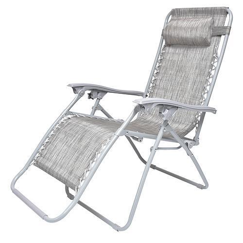 Lehatko CAROLINA, sivé, polohovateľné, 177x66x113 cm