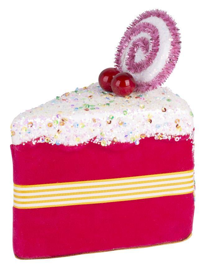 Dekorácia MagicHome Candy Line, koláčik, ružový, 13x9x15 cm, závesný