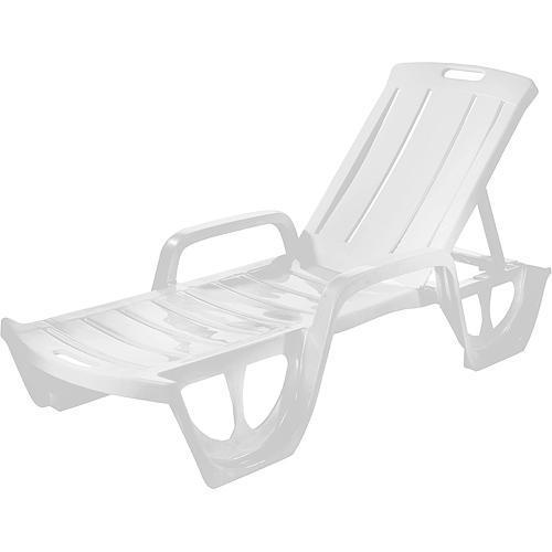 Ležadlo Curver® FLORIDA, biele, plast, lehátko