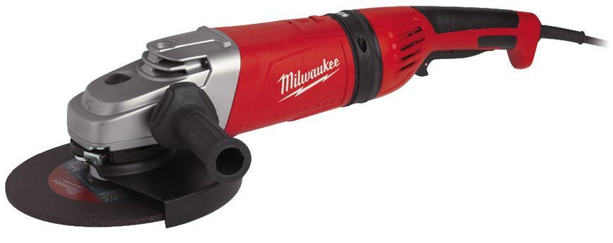 Bruska Milwaukee® AGV 24-230 GE, 230 mm, 2400W, Protector-motor, uhlová