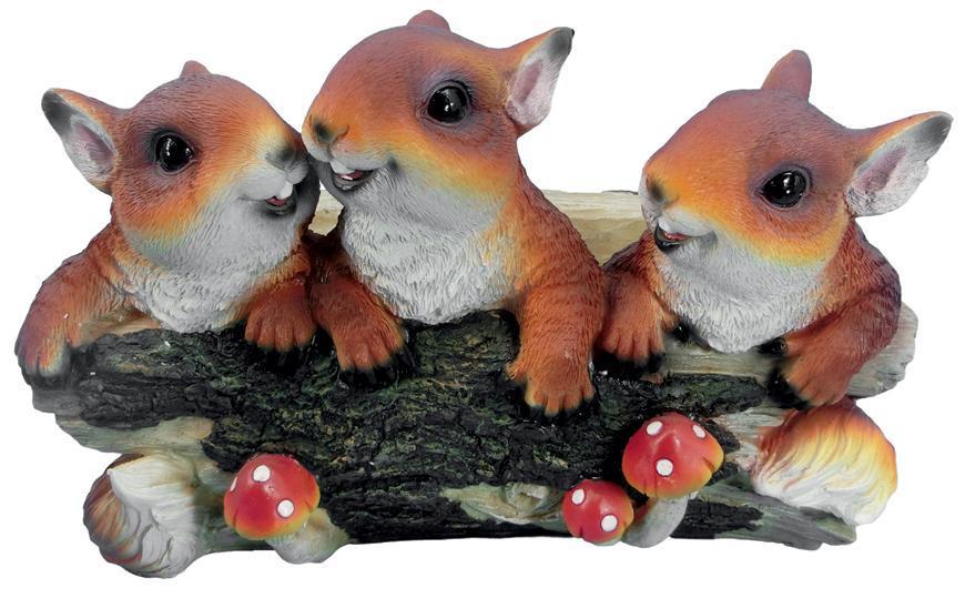 Dekoracia Gecco 5033, Veveričky na konári, polyresin, 31x22x20 cm