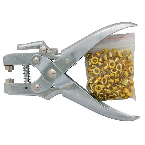 Kliešte na duté nity Strend Pro MPT1205, očkovacie, + 100 ks očiek