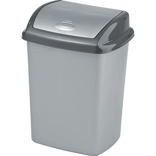 Kôš Curver® DOMINIK 25L, stříbrná/grafitová, na odpad