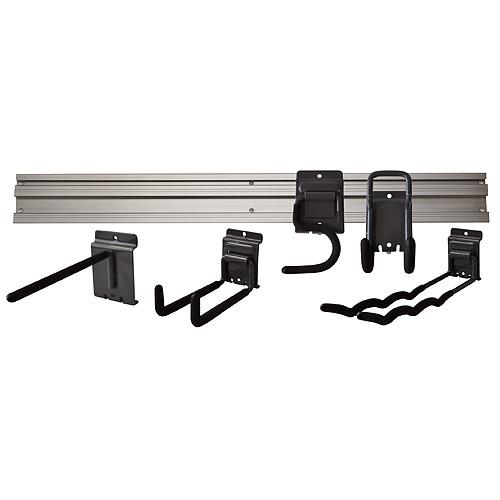 Držiak na náradie G-mate GHS6 • koľajnička 120 cm, 6 ks, + vešiaky, na stenu