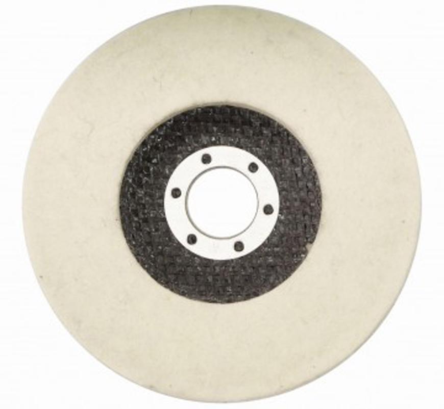 Kotuc GermaFlex Gerfelt 125x22.2 mm, Filc, rovny, plny, 10.000 ot/min