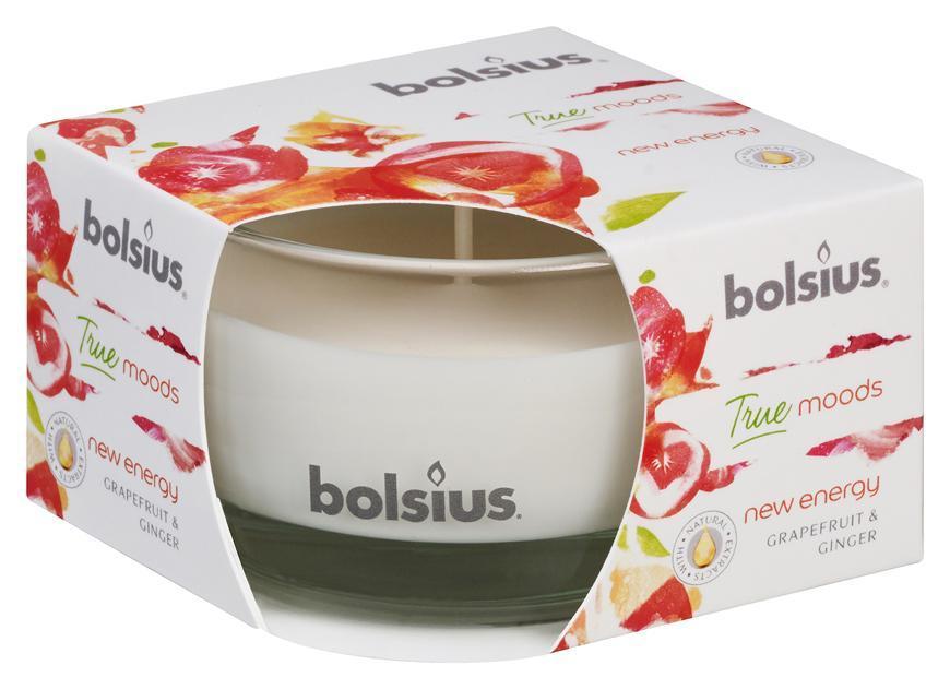 Sviecka bolsius Jar True Moods 50/80 mm, New energy (grapefruit a zázvor)