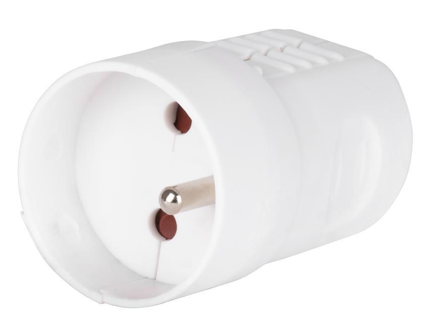 Zasuvka EMOS P0045, IP20, plast, biela