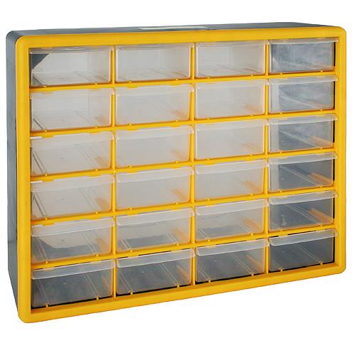 Organizér na stenu Strend Pro SBx3045-C, 24 zásuviek, 50x16x39 cm, max. 28 kg