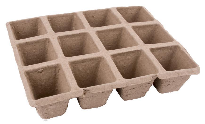 Sadbovac Herrison P1002, papierový, 12 priesad, 21x17x4,5 cm, 1bal. 2 ks
