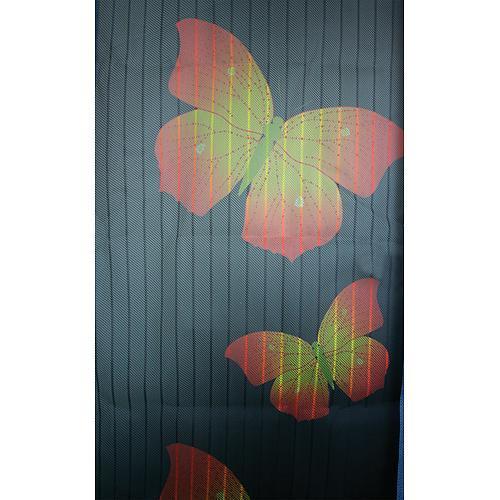 Sieť proti hmyzu Strend Pro, 218x096 cm, 9x magnet, s motýlím vzorom