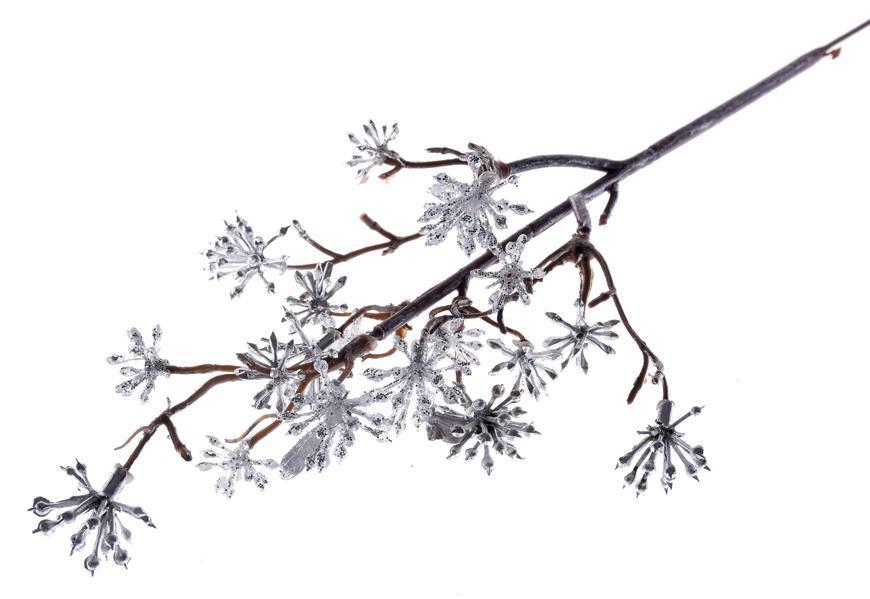Vetvička MagicHome Vianoce, Sedum.Silver, strieborná, 14x30 cm, bal. 3 ks