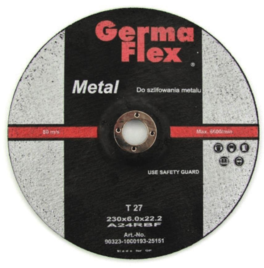 Kotuc GermaFlex Metal/Inox T27 125x6,0x22,2 mm, A24RBF, ocel