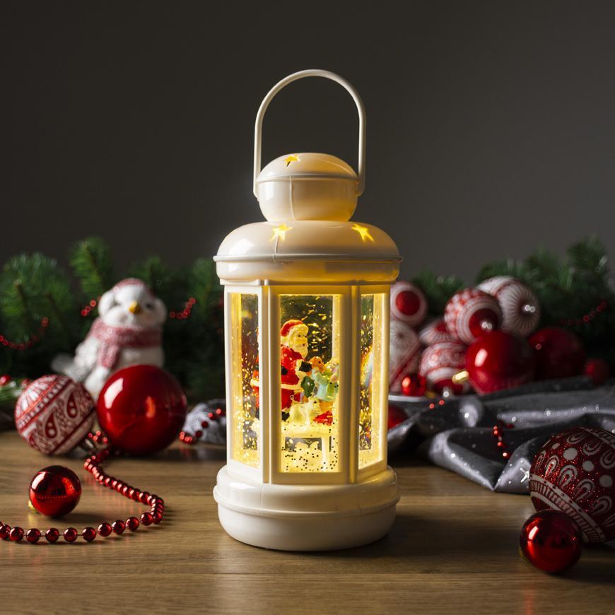 Lampáš MagicHome Vianoce, LED, 3xAAA, plast, 10x10x25 cm