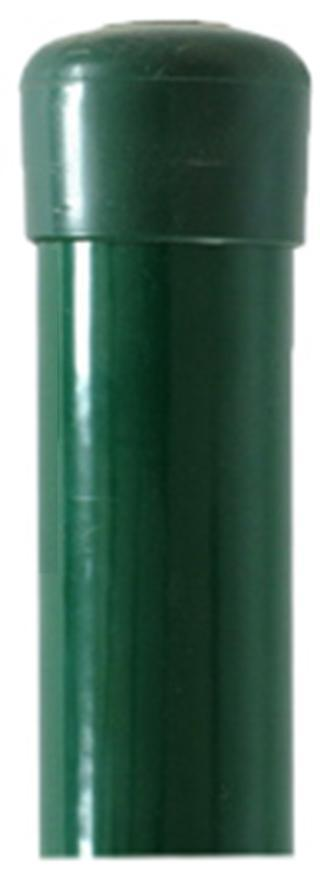 Stlpik METALTEC 38/2200/1,25 mm, zelený, RAL6005, Zn+PVC, okrúhly, čiapočka