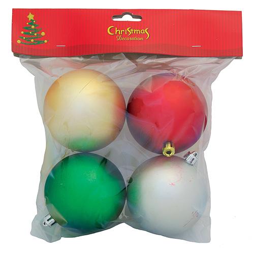 Gule MagicHome Vianoce, 4 ks, zelená, červená, strieborná, zlatá, 8 cm