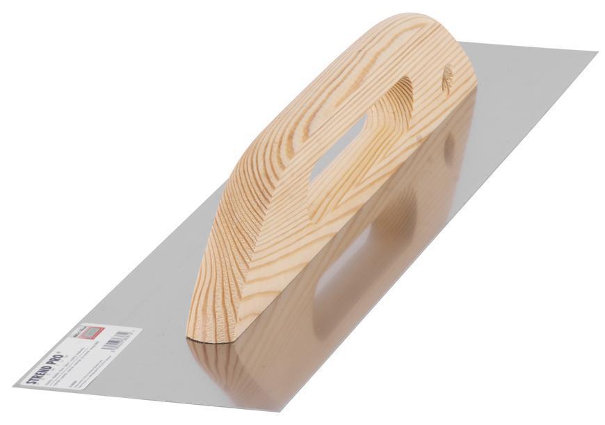 Hladítko Strend Pro Premium 314-1, 480x130 mm, rovné, nerezové, s drev. rúčkou