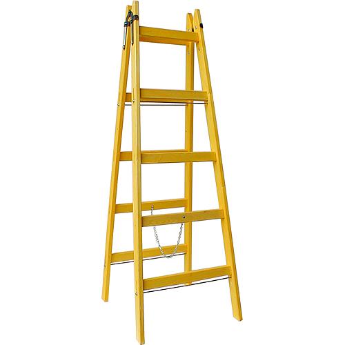 Rebrík DRD A 5 priečkový, 165 cm, drevený, 1 retiazka