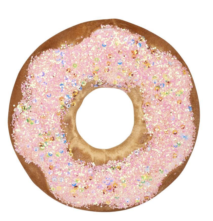 Dekorácia MagicHome Candy Line, donut, hnedý, 13 cm, závesný