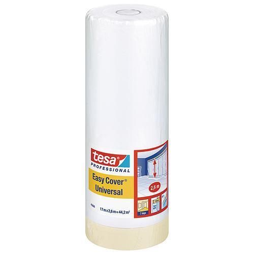 Fólia tesa® Pro Easy Cover® Universal, s páskou, 2600 mm, L-17 m, transparentná