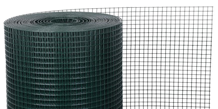 Pletivo GARDEN PVC 1000/25x25/2,5 mm, zelene, RAL 6005, štvorhranné, záhradné, chovateľské, bal. 25 m
