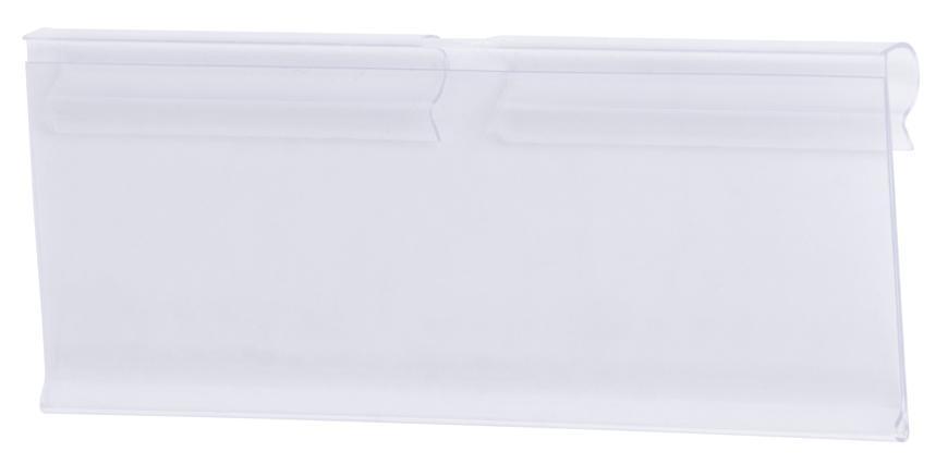Cenovka na vešiak Racks H42 40x105mm, širší PVC háčik na cenovky