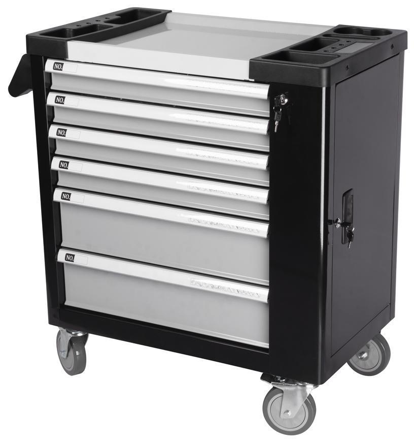 Dielenský vozík s náradím Strend Pro B224, 245 dielna skrinka, 6 zásuviek