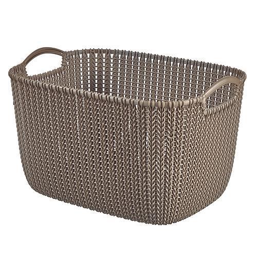 Košík Curver® KNIT 19L, hnedý, 40x30x23 cm