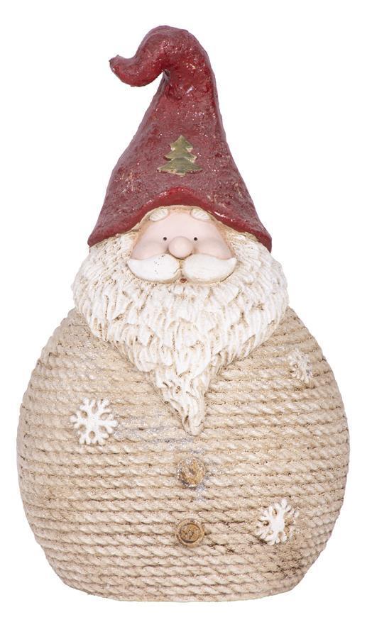 Postavička MagicHome Vianoce, Santa okrúhly veľký, keramika, 42,5 cm