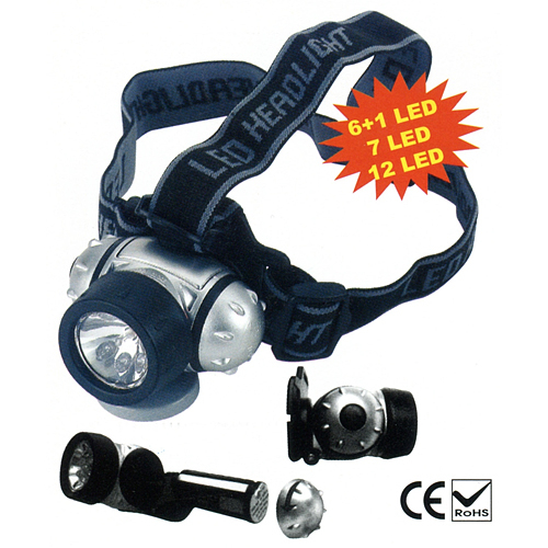 Čelovka Headlight HL2212, 12xLED, 3xAAA