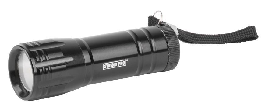 Svietidlo Flashlight FL004, COB 100 lm, Alu, 3xAAA, Sellbox 12 ks
