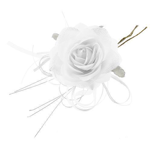 Kvet ruža, biela, stonka, bal. 6 ks