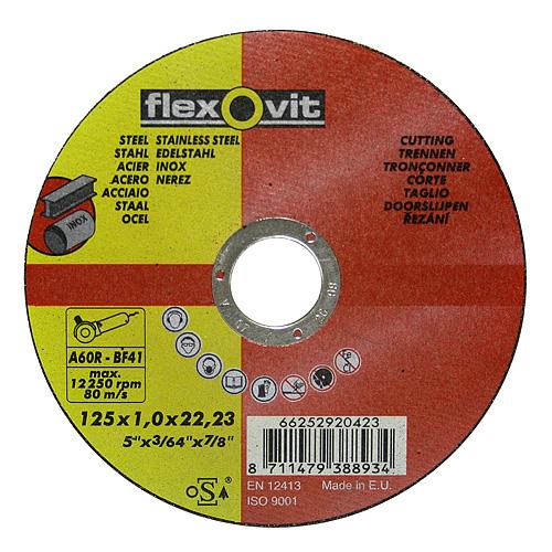 Kotúč flexOvit 20424 125x1,6 A46R-BF41, rezný na kov a nerez