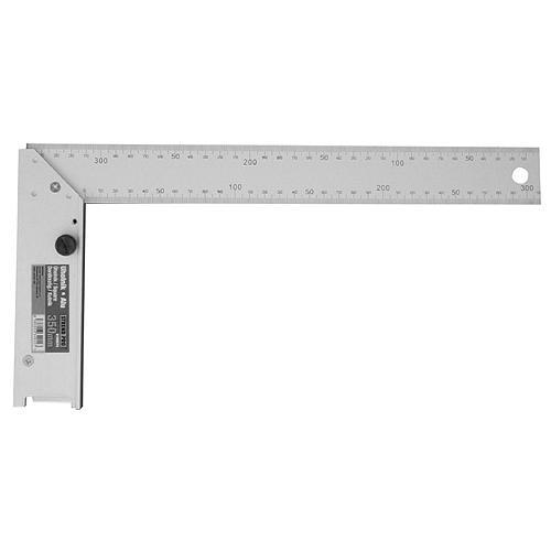 Uholník DY-5030 • 250 mm, Alu, s uhlomerom